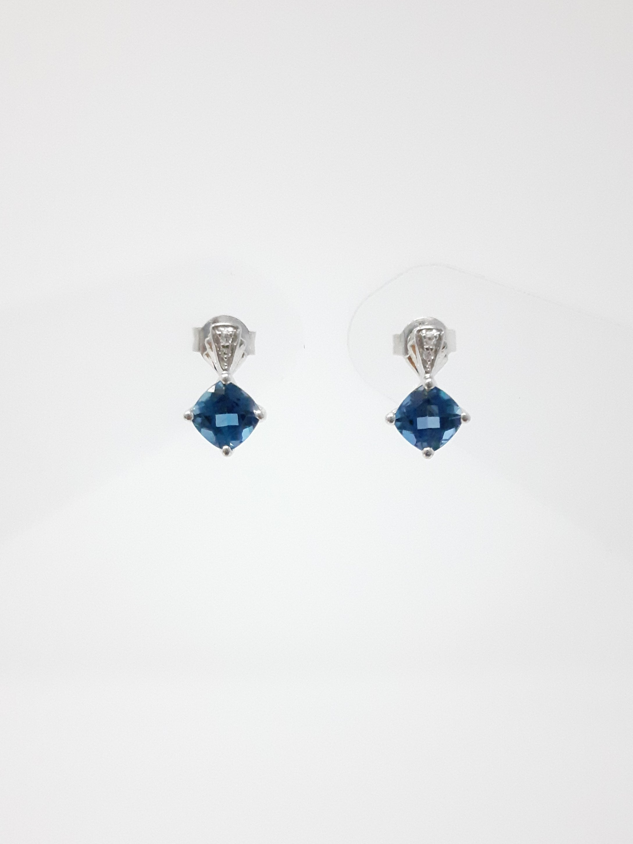 London Blue Topaz and Diamond Earrings
