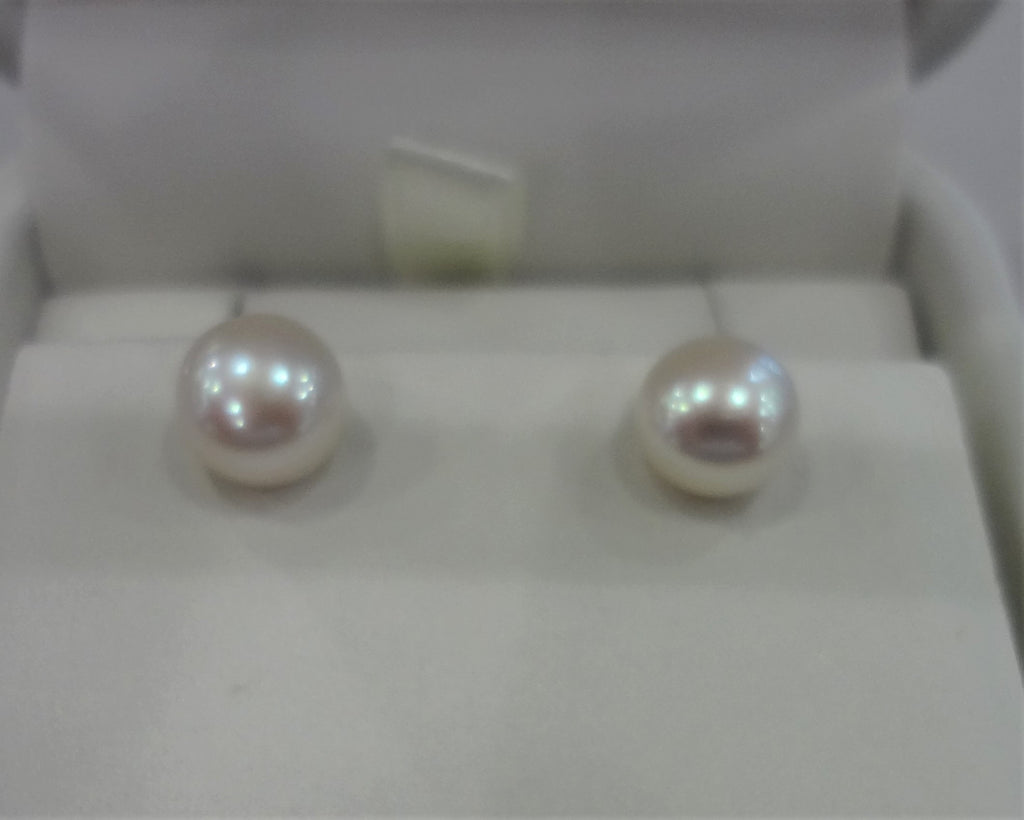 Silver Fresh Water Stud Earrings
