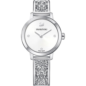 Swarovski Cosmic Rock Watch, Metal bracelet, White, Silver tone 5376080