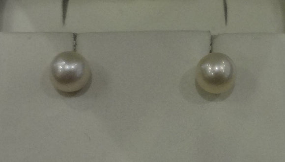 Cultured Pearl Earrings 7.5-8mm