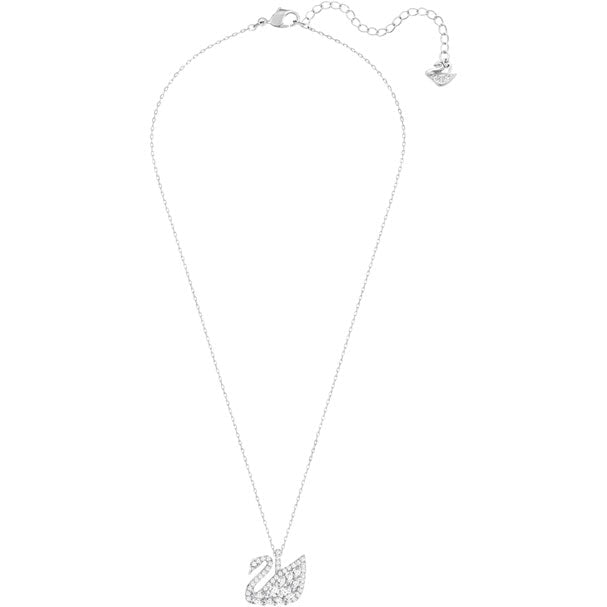 Swarovski Swan Lake Pendant, Small, White, Rhodium plating 5296469