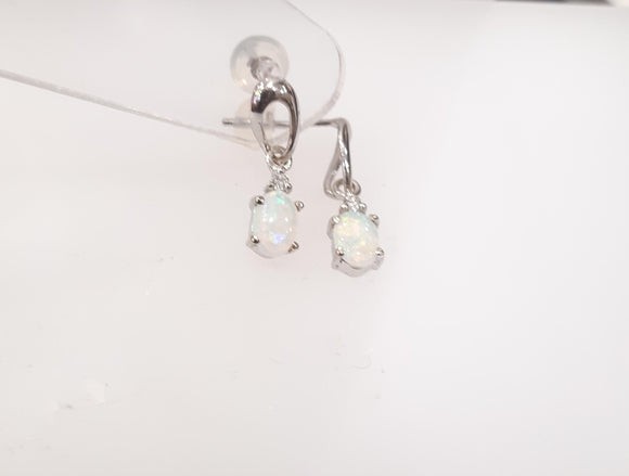 Opal & Diamond Earrings
