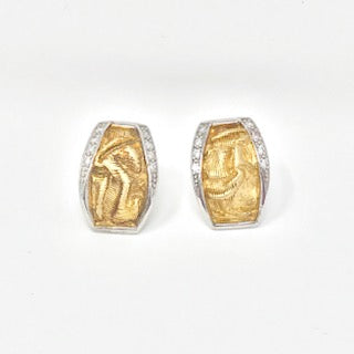 Silver/Gold Plated CZ Earrings