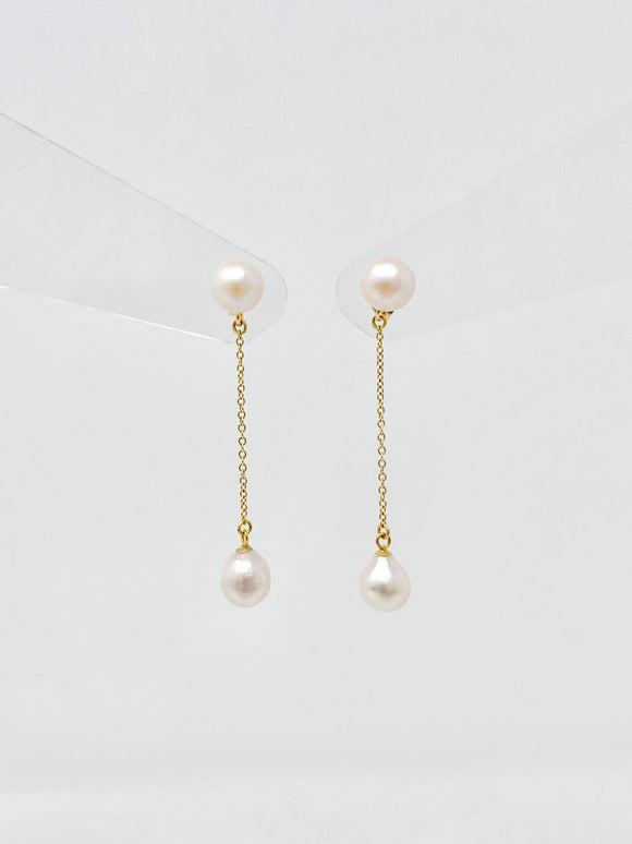 Cultured Pearl Dangle Earrings