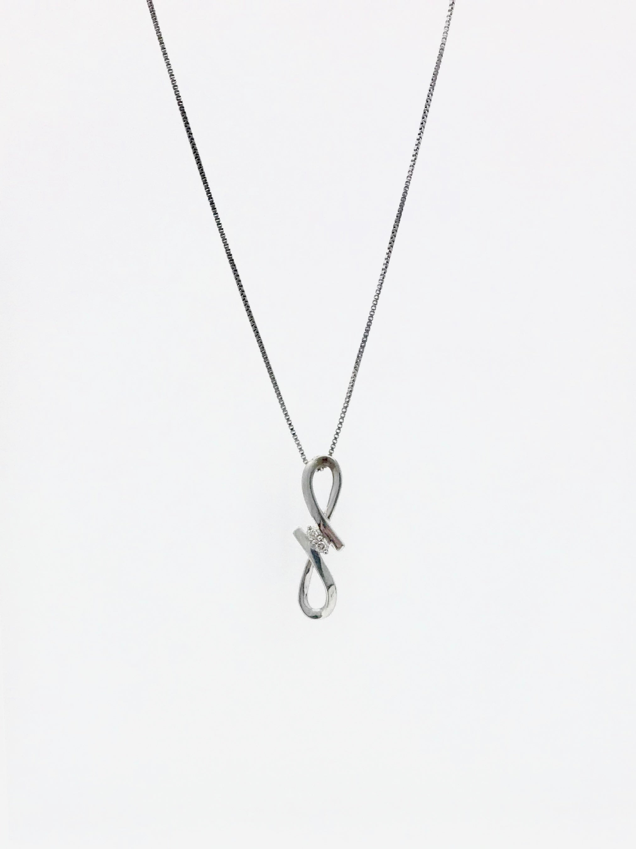 Silver and Diamond Necklace