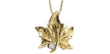 Canadian Diamond Maple Leaf Pendant