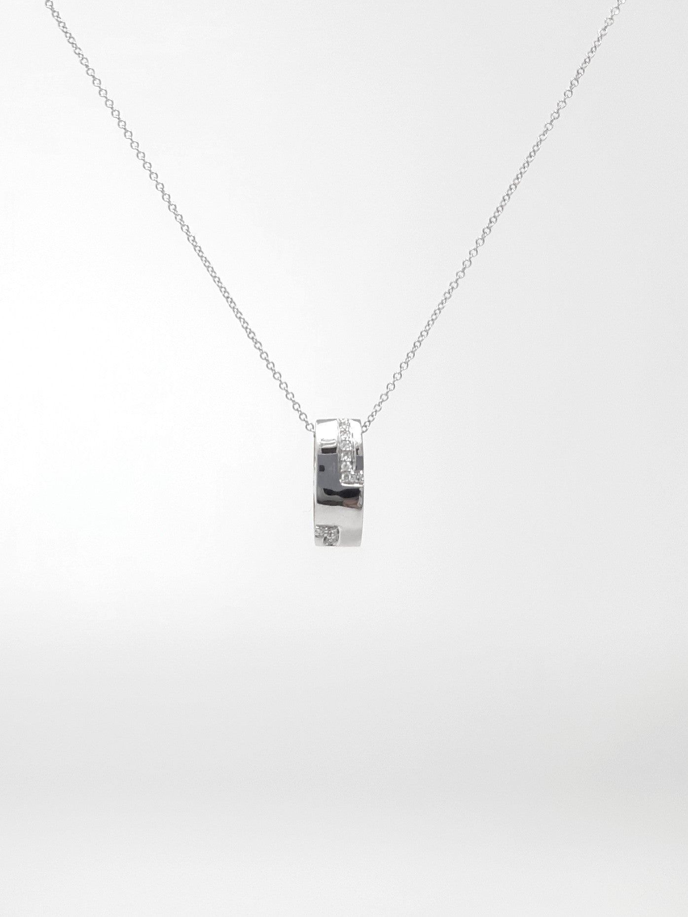 Two-Tone Reversible Pendant with Diamonds