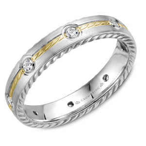 Crown Ring Band - WB-014RD4YW-M6