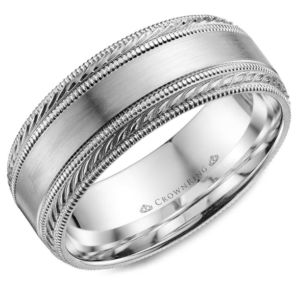 Crown Ring Band - WB-034C8W-M10