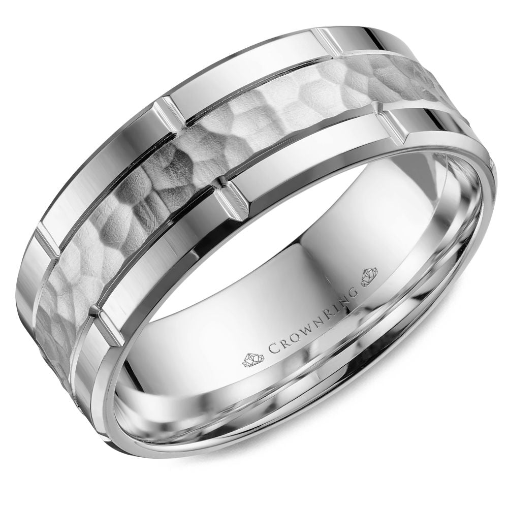 Crown Ring Band - WB-040C8W-M10