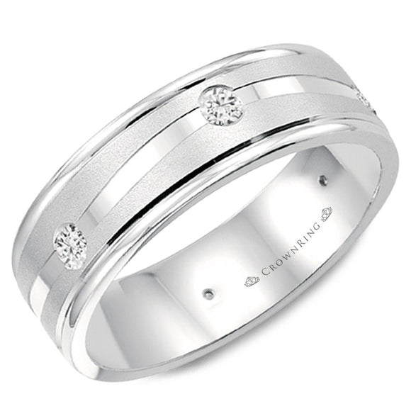 Crown Ring Band - WB-6999-M10