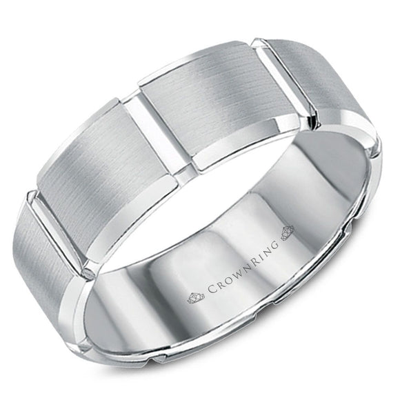 Crown Ring Band - WB-7038-M10