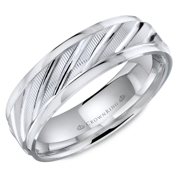 Crown Ring Band - WB-8049-M10