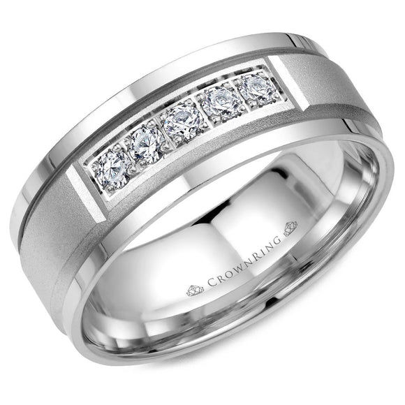 Crown Ring Band - WB-8038-M10