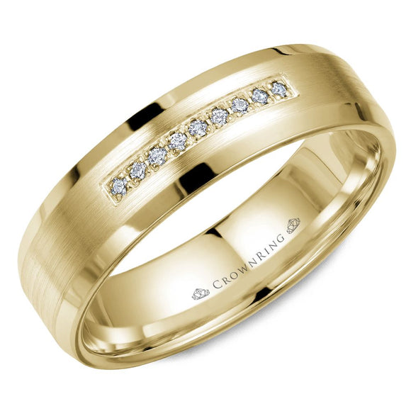 Crown Ring Band - WB-9612Y-M10