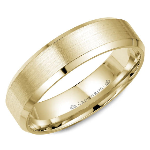 Crown Ring Band - WB-7007Y-M10
