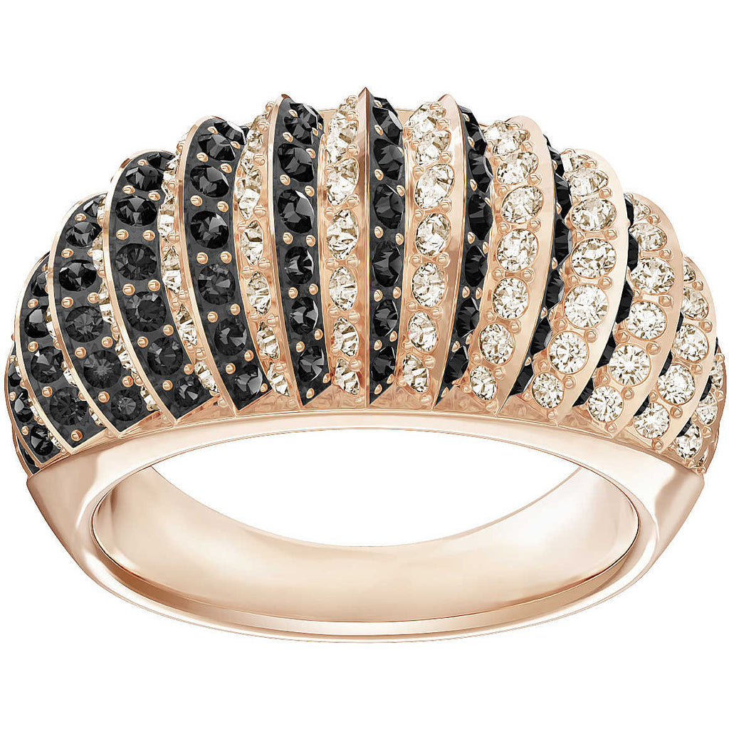 SWAROVSKI LUXURY RING DOMED JET SIZE 50 5412049