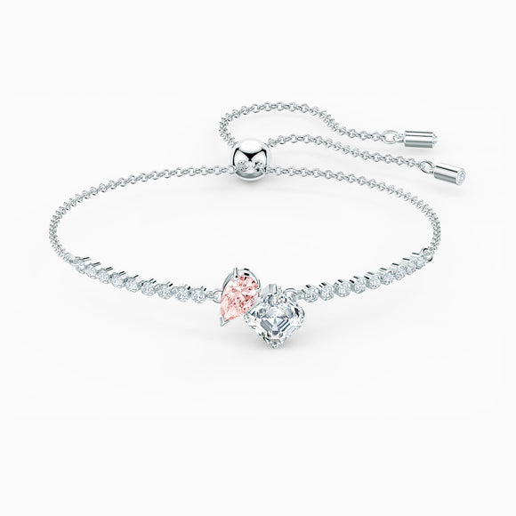 Attract soul bracelet, pink, rhodium plated 5517120