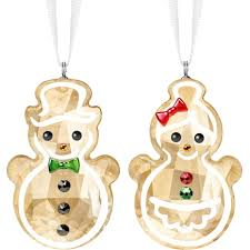 Swarovski Gingerbread Snowman Couple Ornament 5464885