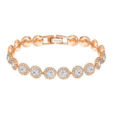Swarovski Angelic Bracelet, White, Rose-Gold Tone Plated 5240513