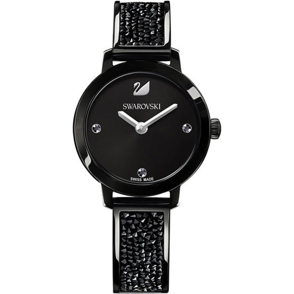 Swarovski Cosmic Rock Watch, Metal bracelet, Black, Black tone 5376071