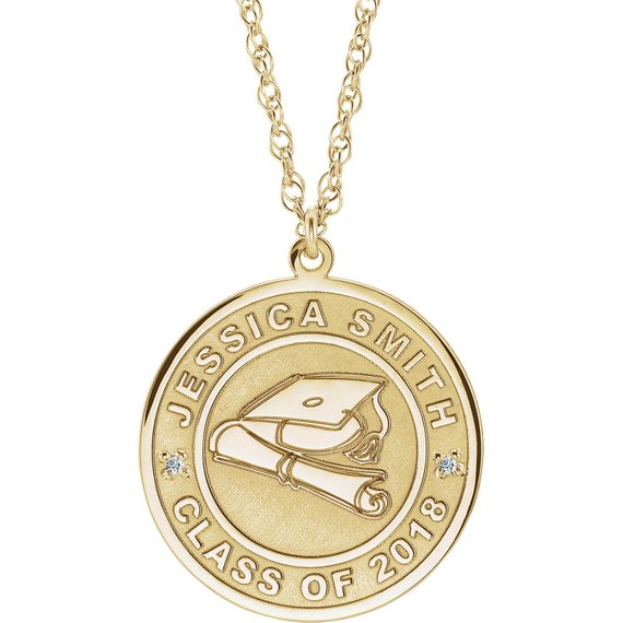 Completely Customizable Graduation Pendant with Chain