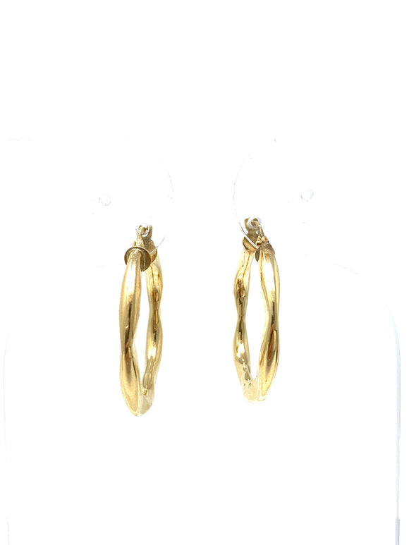 10KY Hoop Earrings