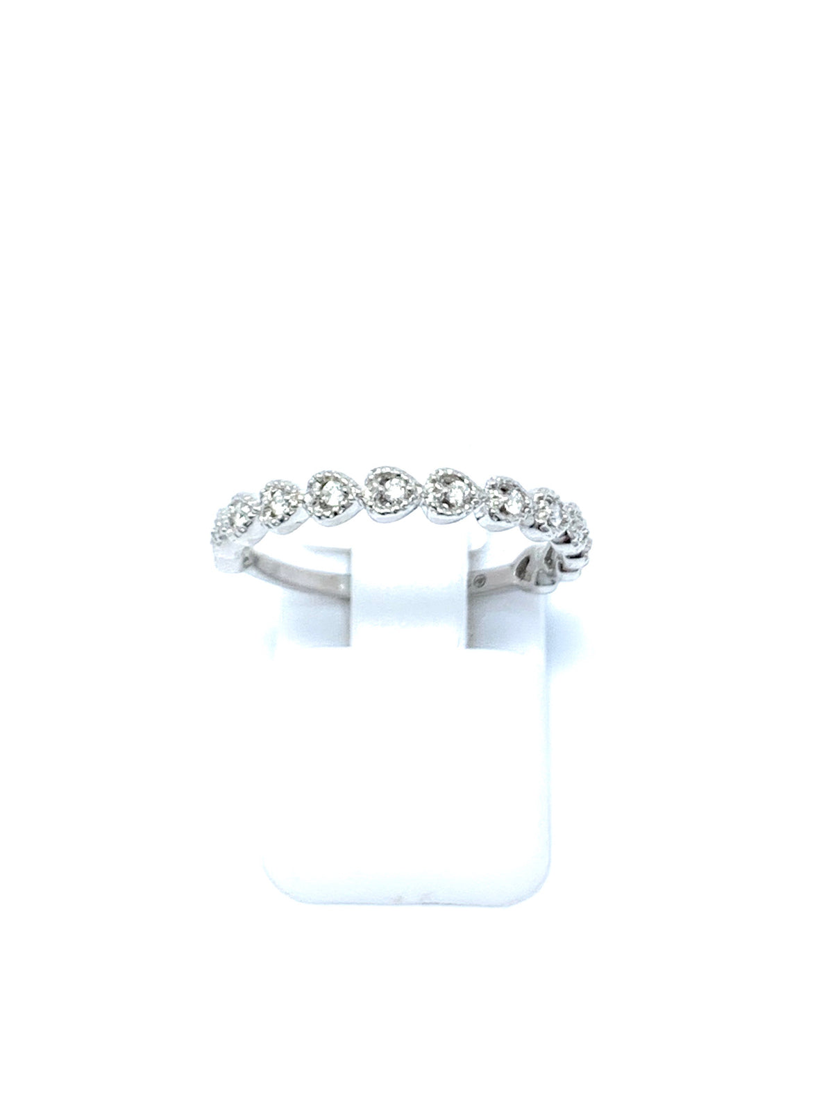 White Gold Heart and Diamond Ring