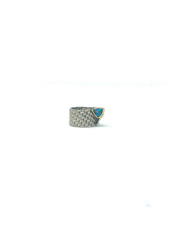 Silver and Blue Topaz Ring