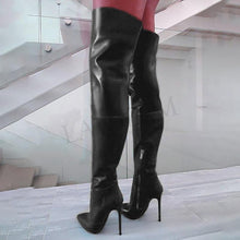 Load image into Gallery viewer, BOOTS 100% Handmade Thigh High Stiletto Boots - EK CHIC