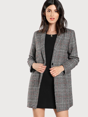 JACKET/COAT Plaid Boxy Coat - EK CHIC