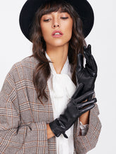 Load image into Gallery viewer, GLOVES Split Detail PU Gloves - EK CHIC