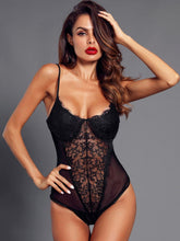 Load image into Gallery viewer, LINGERIE Eyelash Lace & Mesh Teddy Bodysuit - EK CHIC