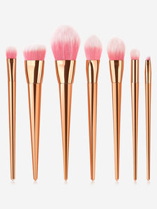 MAKE UP BRUSHES Metallic Makeup Brush 7pcs - EK CHIC