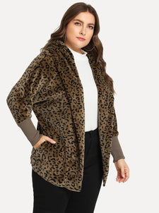 JACKET/COAT Plus Leopard Print Coat - EK CHIC