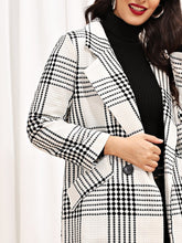 Load image into Gallery viewer, COAT Self Tie Plaid Pocket Side Coat - EK CHIC