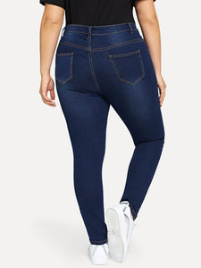 JEANS Plus Distressed Skinny Jeans - EK CHIC