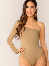 Load image into Gallery viewer, BODYSUIT One Shoulder Slim Fitted Bodysuit - EK CHIC
