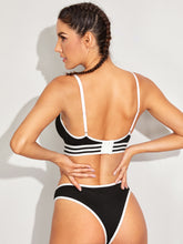Load image into Gallery viewer, LINGERIE Striped Trim Lingerie Set - EK CHIC