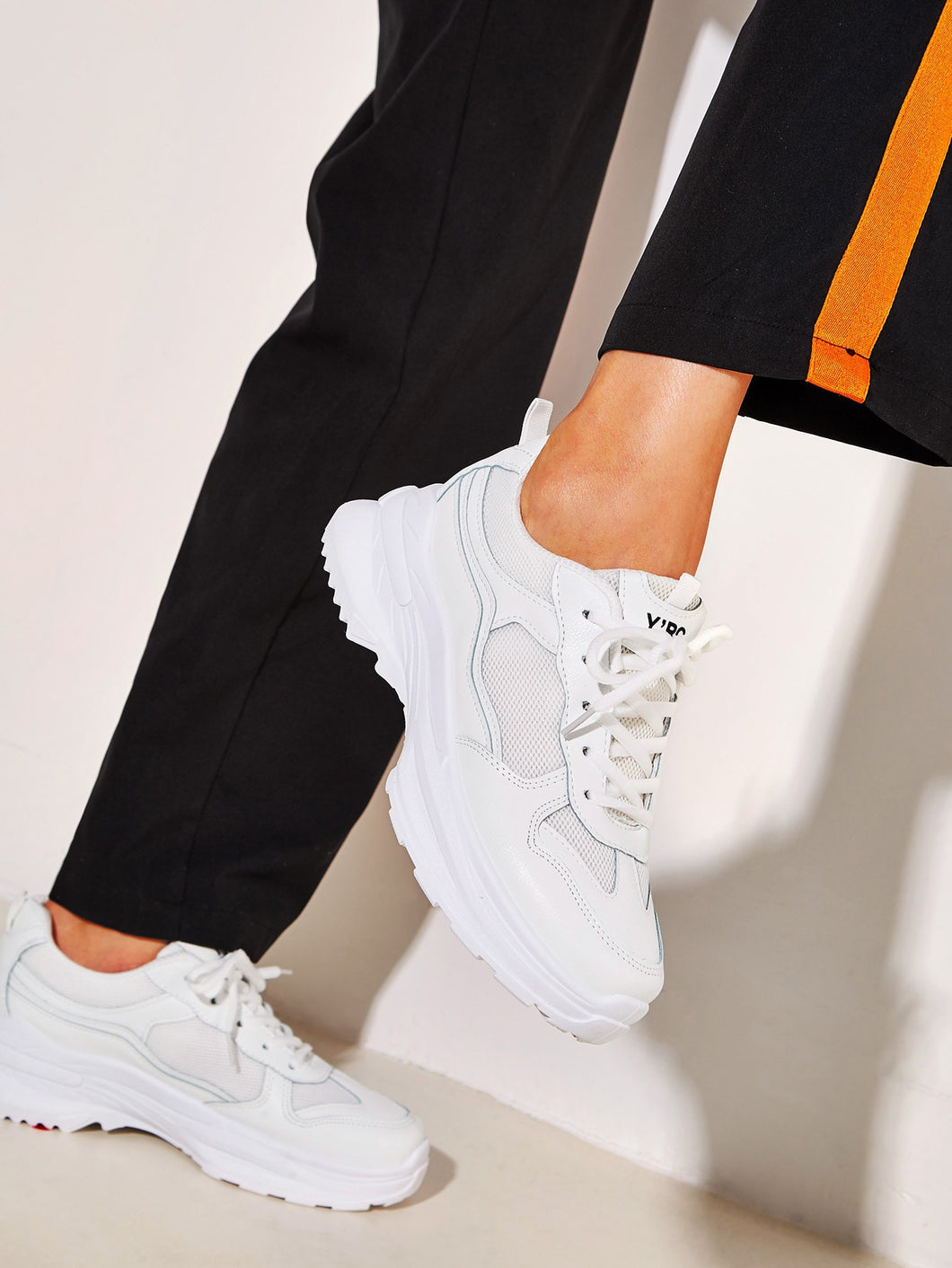 SNEAKERS Lace-up Front Chunky Sole Trainers - EK CHIC