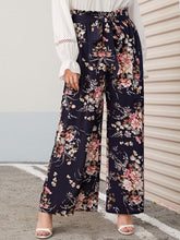 Load image into Gallery viewer, PANTS Plus Paperbag Waist Floral Print Wide Leg Pants - EK CHIC