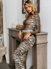 Load image into Gallery viewer, DRESS Tiger Pattern Bodycon Dress Without Belt - EK CHIC