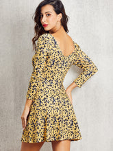 Load image into Gallery viewer, DRESS SBetro Leopard Print Fit & Flare Dress - EK CHIC