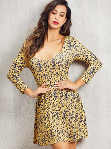 DRESS SBetro Leopard Print Fit & Flare Dress - EK CHIC