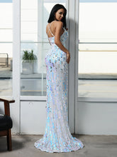 Load image into Gallery viewer, DRESS Criss-cross Sequin Cami Prom Dress - EK CHIC