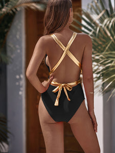 SWIMWEAR Criss Cross One Piece Swimwear - EK CHIC