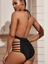 Load image into Gallery viewer, SWIMWEAR Criss Cross Ladder Cut-out One Piece Swimwear - EK CHIC