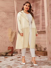 Load image into Gallery viewer, JACKET/COAT Plus Buckle Strap Detail Pleated Hem Satin Coat - EK CHIC