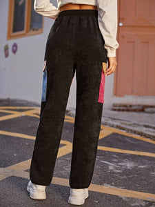 PANTS Flap Pocket Side Cord Pants - EK CHIC
