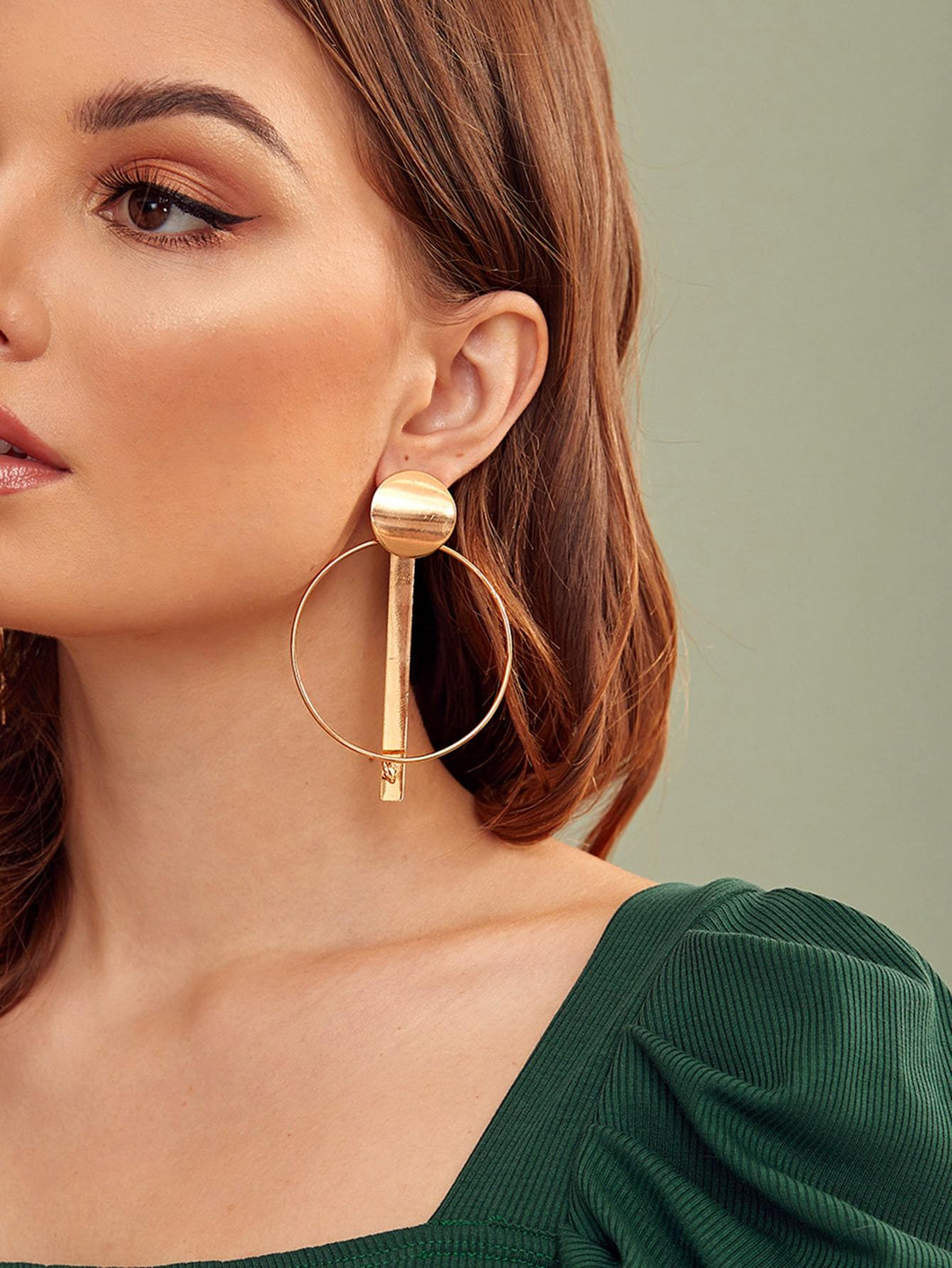 JEWELRY 1pair Bar Decor Hoop Drop Earrings - EK CHIC